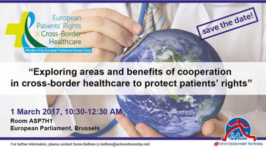 """1 Mars, European Parliament, Brussels: UEHP invited to speak at the conference """"Exploring areas and benefits of cooperation in cross-border healthcare to protect patients'rights"""""""