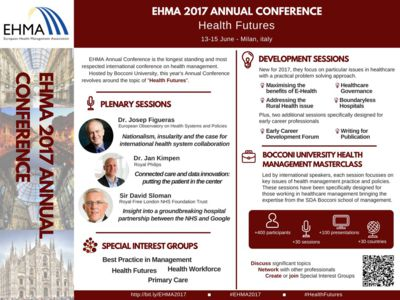 13-15 June, Milan: EHMA Annual Conference