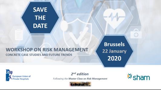 22 January, Brussels: UEHP – SHAM Workshop on Risk Management