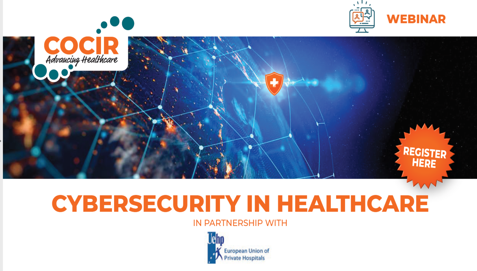 INVITATION – COCIR/UEHP webinar on CYBERSECURITY IN HEALTHCARE, 30 June 2020 – 14h-15.30h