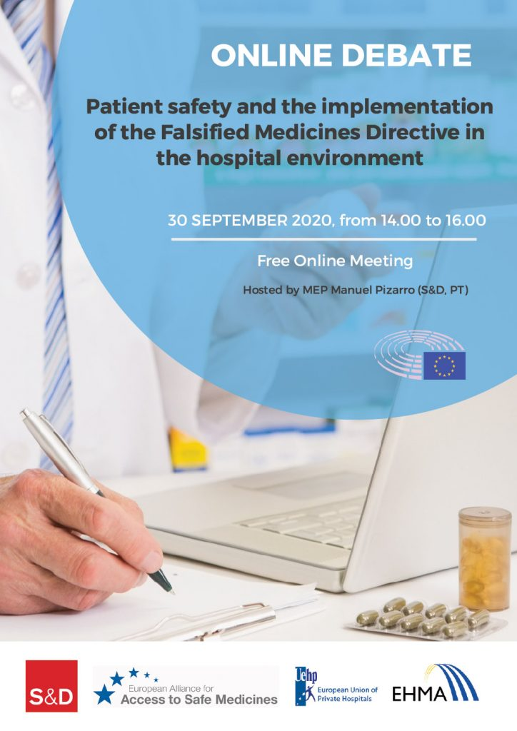 "30 September: online event ""Patient safety and the implementation of the Falsified Medicines Directive in the hospital environment – one year on"""