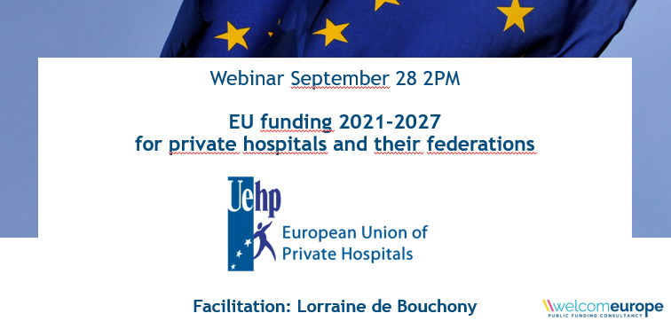 28 September: UEHP webinar on EU funding programmes